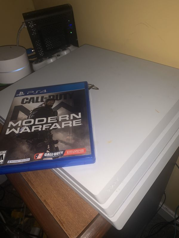 limited edition white ps4 pro 1tb with modern warfare