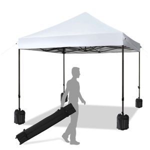 Pop up Canopy Tent Commercial Instant Shelter with Wheeled Carry Bag, Bonus 4 Canopy Sand Bags, 10x10 FT (White) for Sale in Monterey Park, CA