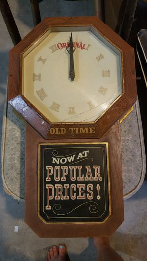 Vintage and SUPER RARE old time original pabst blue ribbon clock for Sale for sale  Asheboro, NC