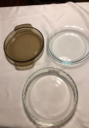 Pyrex Glass pie pans for Sale in Stockton, CA