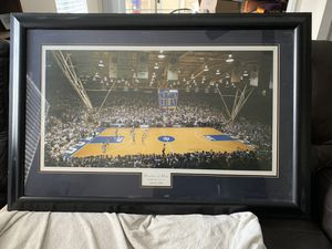 """Duke vs UNC 46"""" by 23"""" in game portrait for Sale in Raleigh, NC"""