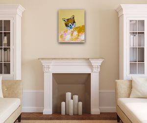 ''Dream Big/ Fox portrait''/art painting by artist W.C-M.T.L. for Sale in Arlington, VA