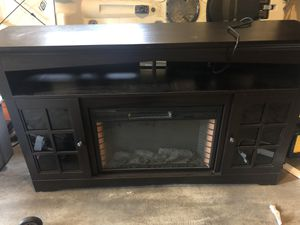 TV Stand with fireplace for Sale in Olympia, WA
