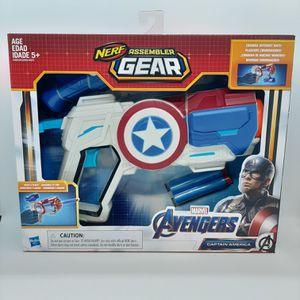 Marvel's Avengers Nerf Assembler Gear ~ Captain America ~ Blaster Dart Gun ~ NIP for Sale in Stockton, CA