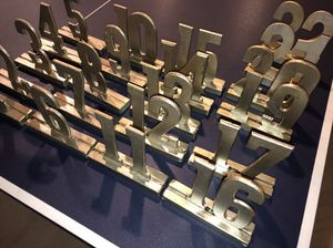 Silver Table Numbers for Sale in Washington, DC