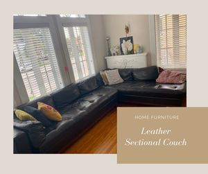 Leather Sectional Couch by Scan Design for Sale in Tampa, FL