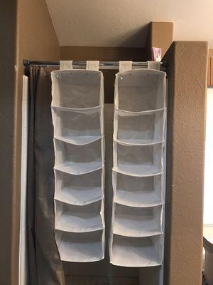 Hanging closet organizer shelves for Sale in Fort McDowell, AZ