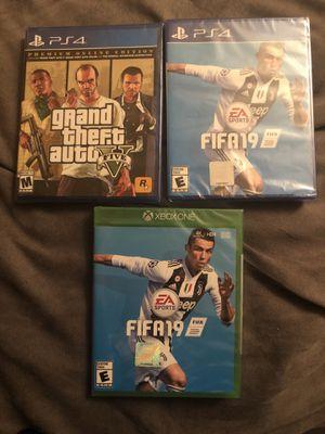 PS4 FIFA 19, Grand Theft Auto, Xbox One FIFA 19, $50 each for Sale in Fairfax, VA