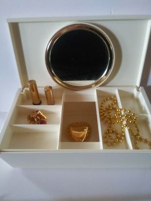 Vintage 1970s Jewelry Box with / Tray & Mirror for Sale in Wilmington, CA