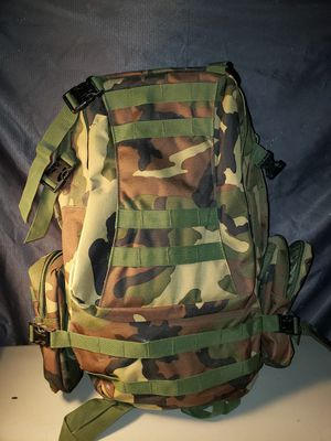 US Outdoor Military Tactical Bag with bunch of extra's.(: for Sale in Tucson, AZ