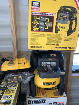 Brand new dewalt flexvolt air compressor with battery and charger compete not negotiable for Sale in Plant City, FL