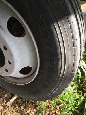 BRAND NEW!!! Tractor trailer tire and rim for Sale in Riverview, FL