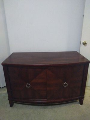 Large REAL WOOD tv stand for Sale in Takoma Park, MD