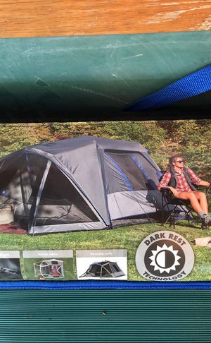 6 person Ozark trail tent. With built in led lights and Porch canopy for Sale in Middletown, MD