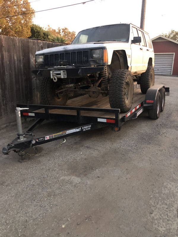 14 foot car trailer and jeep Cherokee for sale or trade