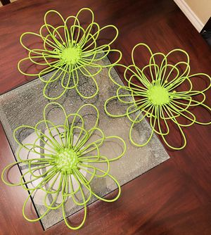 Metal Flower Wall Decor for Sale in Houston, TX