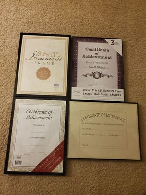 4 Certification Frames for Sale in Union City, CA