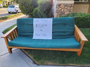 Oak futon for Sale in Reedley, CA