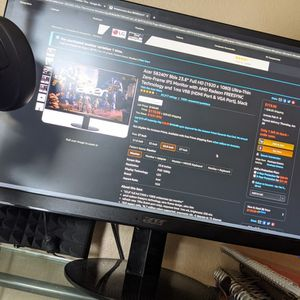 Acer Sb240Y 23.8Inch Utra Thin Monitor for Sale in Queen Creek, AZ