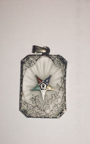 Art Deco 1920's sterling silver Masons Pendant for Sale in Austin, TX