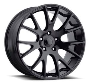 """22"""" DODGE HELLCAT Style Rims Package New Replica Wheels & Tires ANY FINISH Machine Black • Gloss Black • Matte Black Rims & Tires Only $1299 ( Bra for Sale in La Habra, CA"""