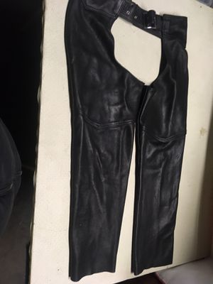 Women's leather motorcycle chaps for Sale in Des Moines, WA