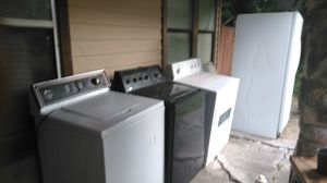 All 3 run 2 washer 1 dryer for $400 w/ fridge 500 for Sale in San Antonio, TX