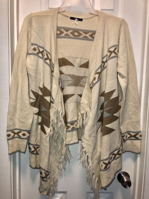 Fringe sweater cardigan size large (from forever 21) for Sale in Irving, TX