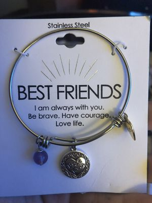 Best Friends Stainless Steel Charm Bracelet for Sale in Chicago, IL