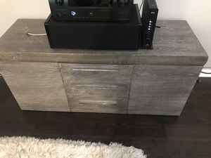 Entertainment Center , Distressed grey wood look for Sale in Cumming, GA