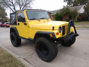 2002 Jeep Wrangler Clean Title 5 Speed Manual Transmission for Sale in Carrollton, TX