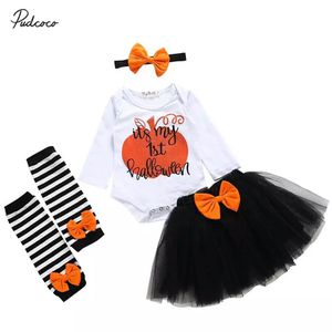 Baby 1st Halloween Outfit My 1st Halloween Baby Girl Romper Tutu Skirt Headband 6 months for Sale in Philadelphia, PA