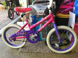 16 in girl bike pink and purple for Sale in Las Vegas, NV