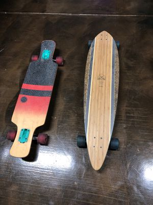 Rvca and Globe longboards sold together for as seen price for Sale in Tulare, CA