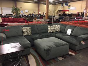 Jessa Place 3 Piece Microfiber Right Chaise Sectional Sofa / Couch in Pewter for Sale in Portland, OR