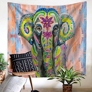 Bohemian Elephant Tapestry Wall Hanging Decor, Indian Hippie Hanging wall decor, Bedroom Living Room Dorm Wall Hanging Tapestry Beach Throw/Table Run for Sale in Durham, NC