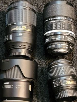 Multiple camera lenses(4) for Sale in Queens, NY