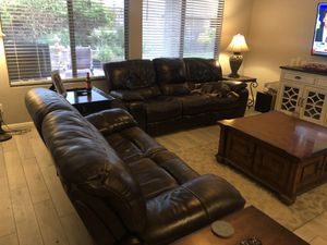 Reclining Leather Sofa Set for Sale in Glendale, AZ
