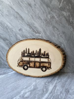 Wooden Wall Art - Camper Van Forest for Sale in Redmond, WA