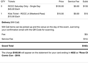 Comic con tickets for Sale in Beaverton, OR