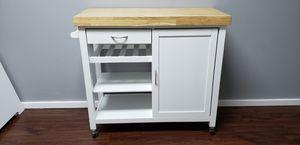 Butcher-block kitchen island kitchen storage for Sale in Spanaway, WA