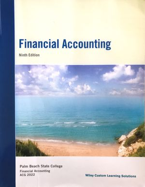 Financial Accounting (w/Wiley Plus) Palm Beach State College 9th Edition, By: Weygandt. ISBN: 9781119046240 for Sale in West Palm Beach, FL