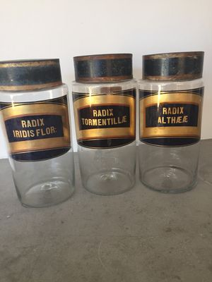 Antique Apothecary Glass Jar Set for Sale in Mission Viejo, CA