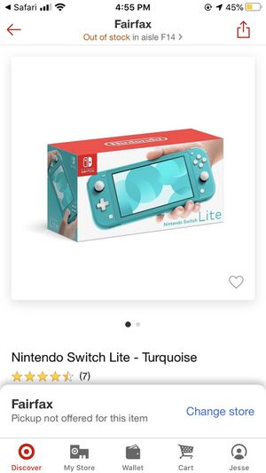 Nintendo switch lite turquoise for Sale in Fairfax, VA