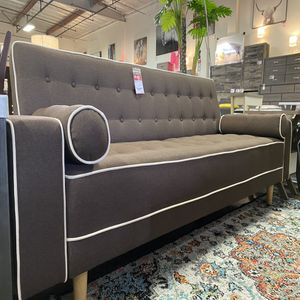 SPL Sofa Bed / Futon with Pillows, Brown for Sale in Huntington Beach, CA