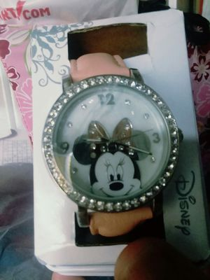 Pretty Minnie Mouse Watch With Crystals for Sale in The Bronx, NY