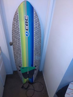 California board shop sushi surf board green and blue great for new rider for Sale in Colton, CA