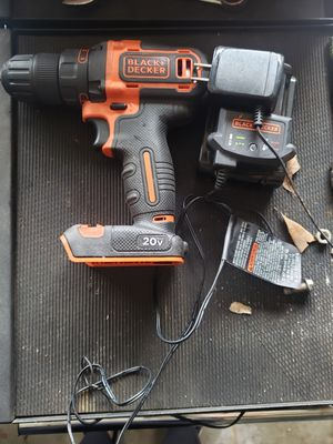 Black and Decker drill plus battery and charger for Sale in Garland, TX