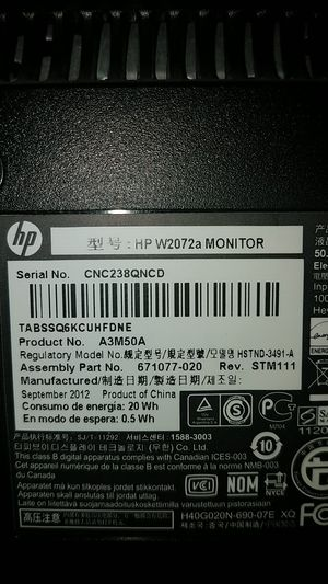 HP monitor for Sale in Garden Grove, CA