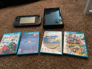WII U(BROKEN) 5 Games Included for Sale in Garland, TX